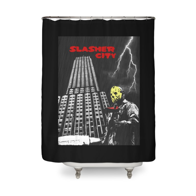 Slasher City Home Shower Curtain by oldtee's Artist Shop