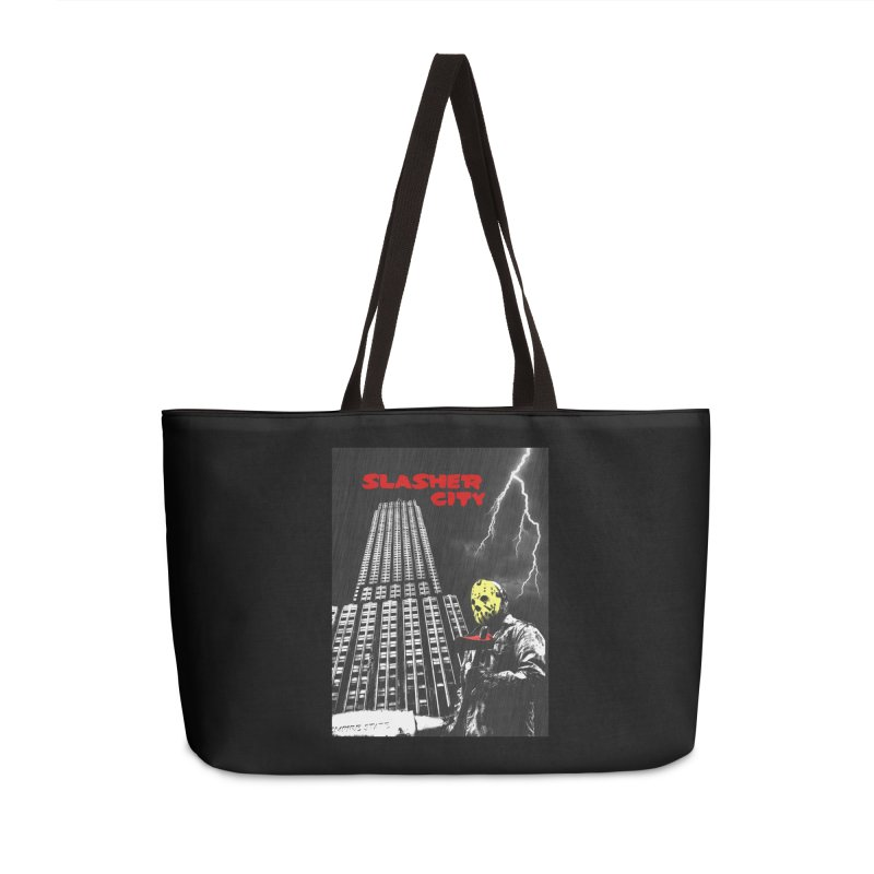 Slasher City Accessories Weekender Bag Bag by oldtee's Artist Shop