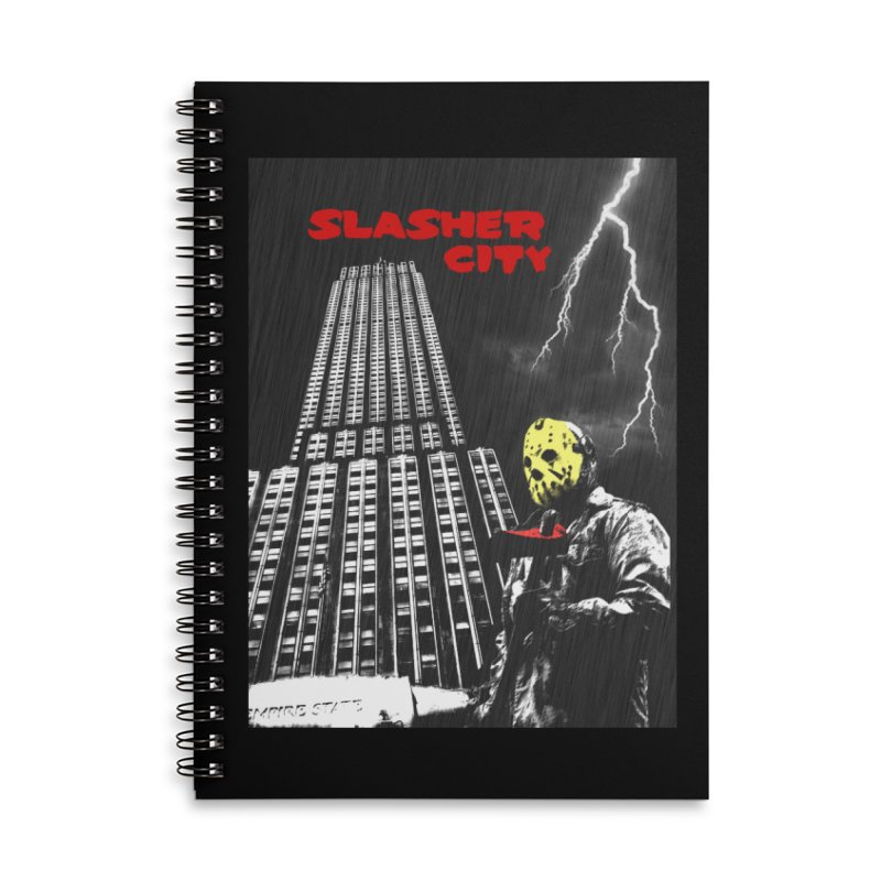 Slasher City Accessories Lined Spiral Notebook by oldtee's Artist Shop