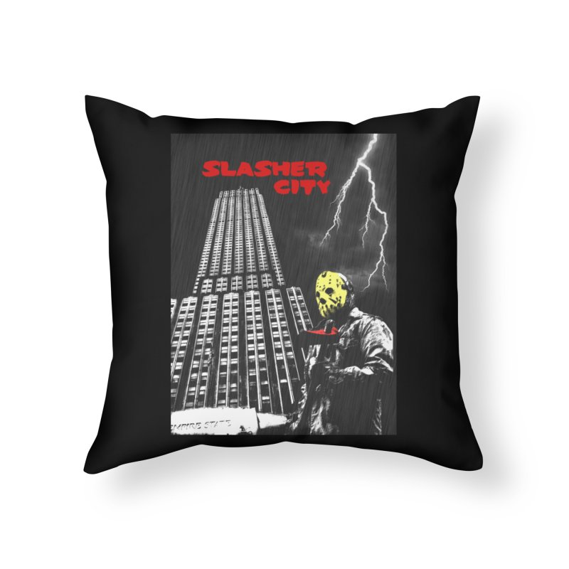 Slasher City Home Throw Pillow by oldtee's Artist Shop