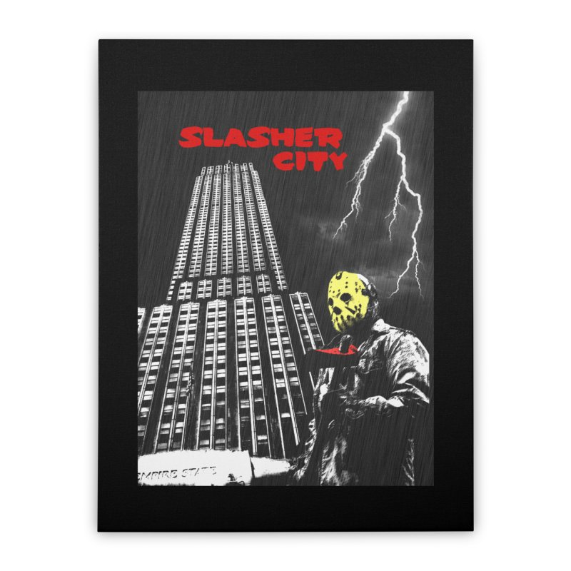 Slasher City Home Stretched Canvas by oldtee's Artist Shop