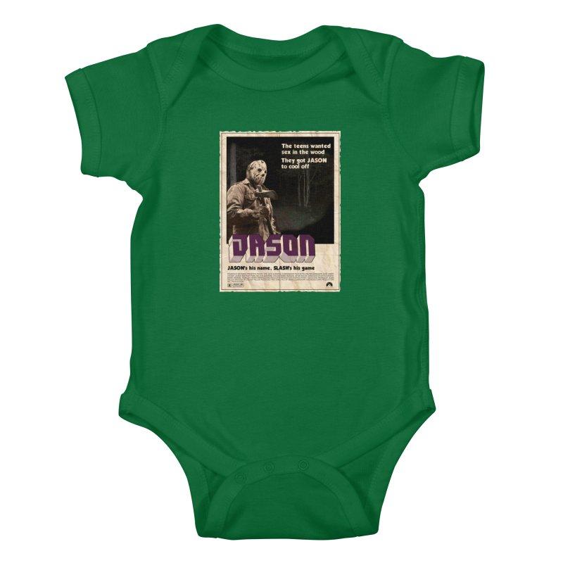 Jason Shaft Kids Baby Bodysuit by oldtee's Artist Shop