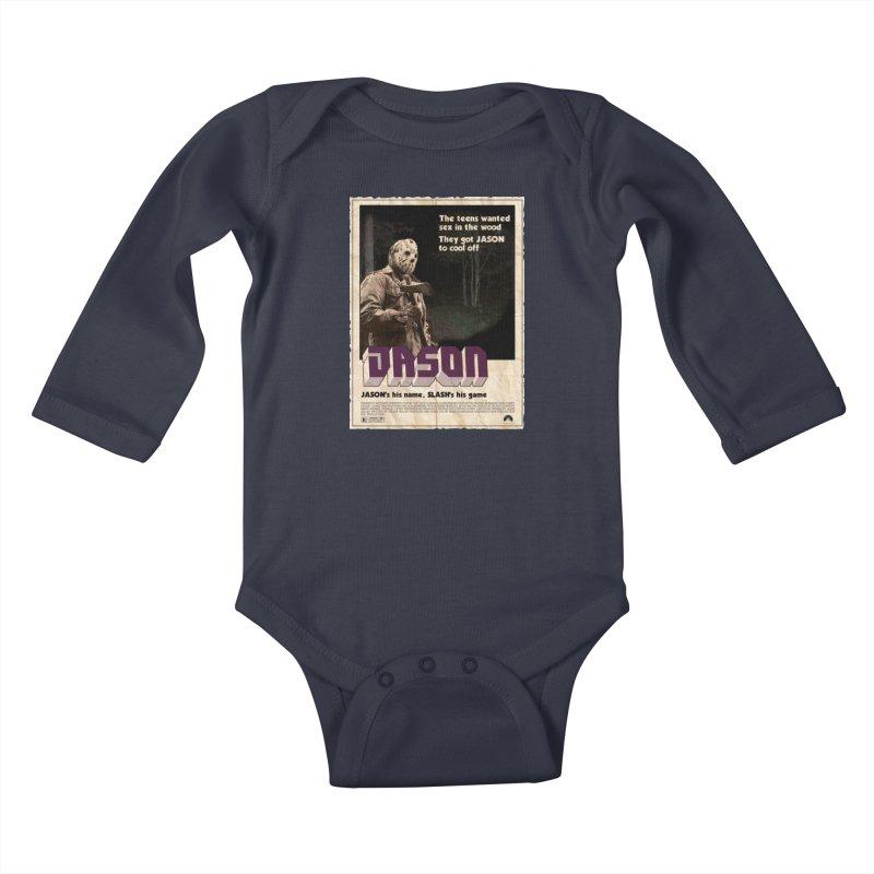 Jason Shaft Kids Baby Longsleeve Bodysuit by oldtee's Artist Shop