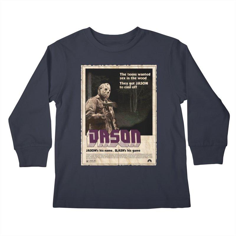 Jason Shaft Kids Longsleeve T-Shirt by oldtee's Artist Shop