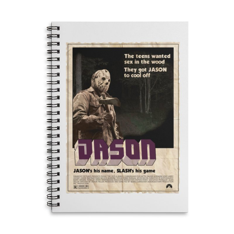 Jason Shaft Accessories Lined Spiral Notebook by oldtee's Artist Shop