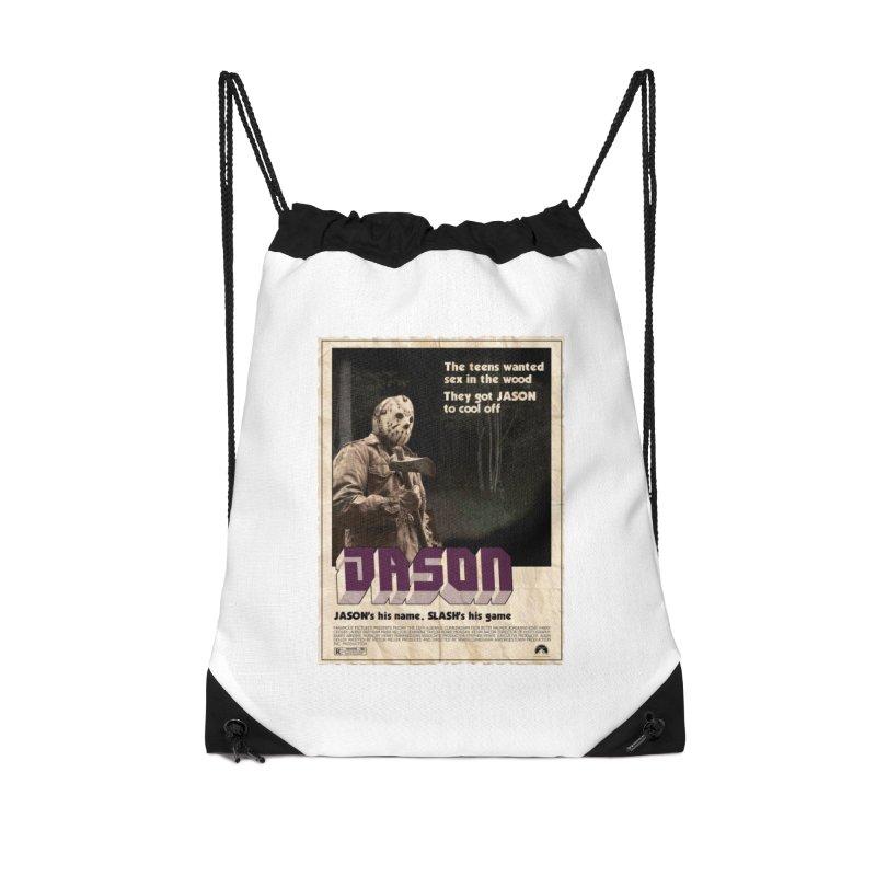 Jason Shaft Accessories Drawstring Bag Bag by oldtee's Artist Shop