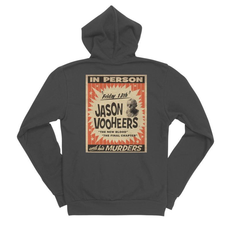 Jason in Person Men's Sponge Fleece Zip-Up Hoody by oldtee's Artist Shop