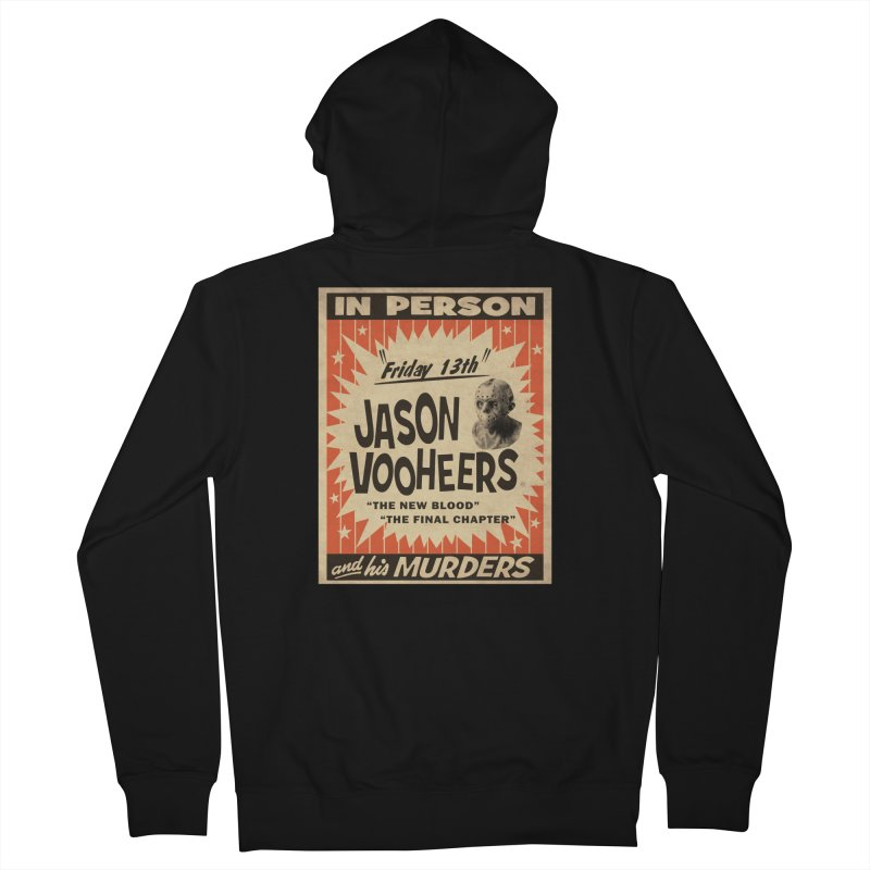 Jason in Person Men's French Terry Zip-Up Hoody by oldtee's Artist Shop