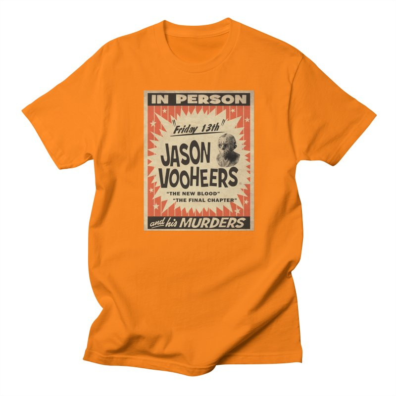 Jason in Person Women's Regular Unisex T-Shirt by oldtee's Artist Shop