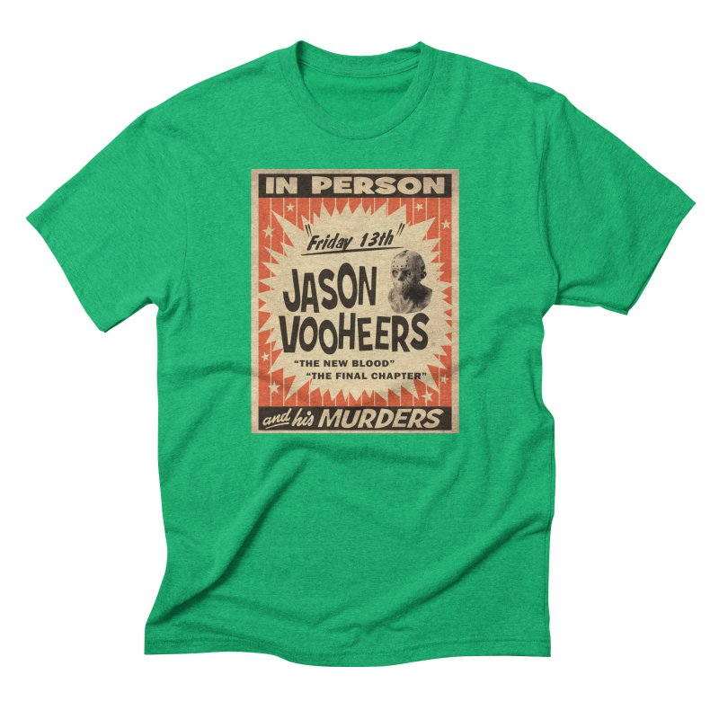 Jason in Person Men's Triblend T-Shirt by oldtee's Artist Shop