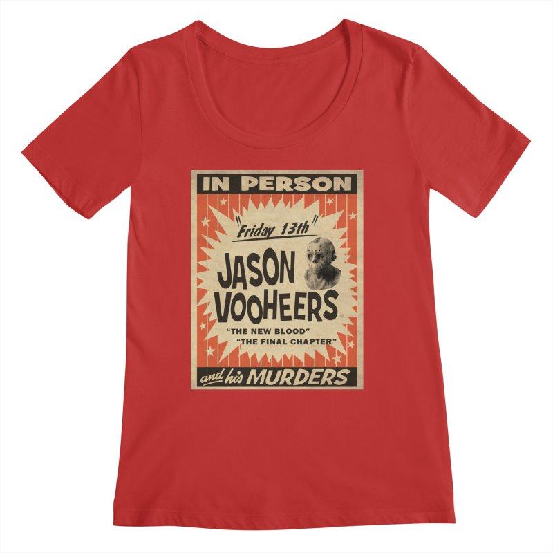 Jason in Person Women's Regular Scoop Neck by oldtee's Artist Shop