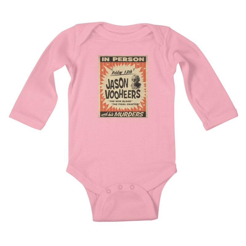 Jason in Person Kids Baby Longsleeve Bodysuit by oldtee's Artist Shop