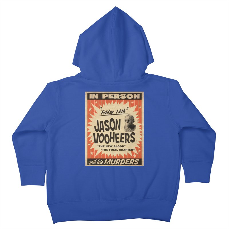 Jason in Person Kids Toddler Zip-Up Hoody by oldtee's Artist Shop