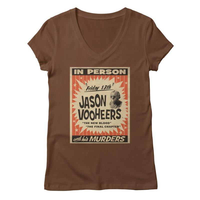 Jason in Person Women's Regular V-Neck by oldtee's Artist Shop