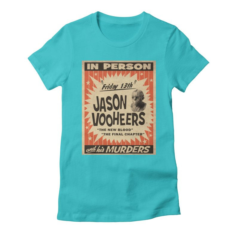 Jason in Person Women's Fitted T-Shirt by oldtee's Artist Shop