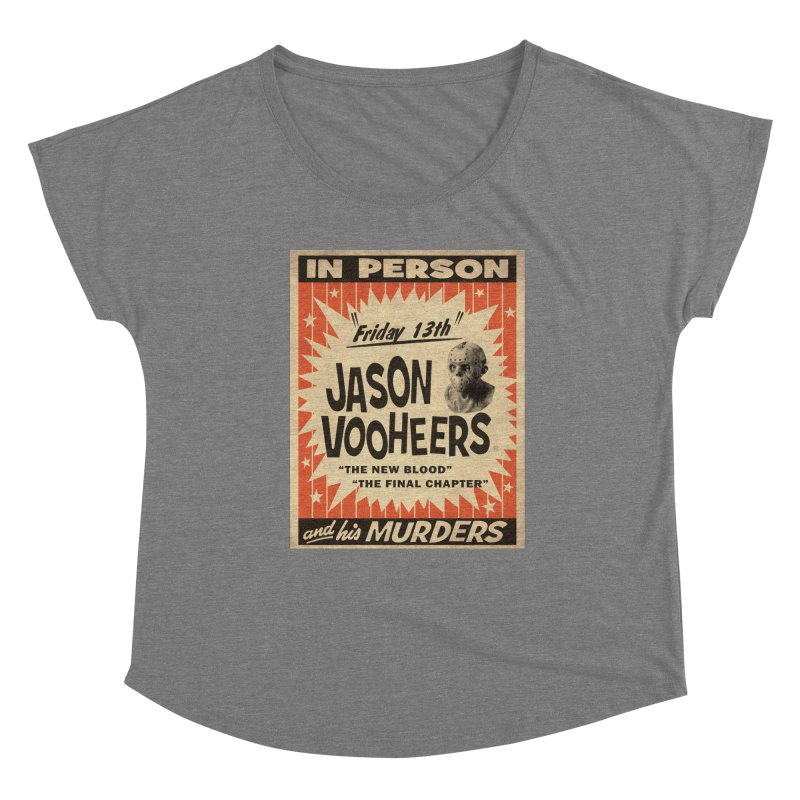 Jason in Person Women's Scoop Neck by oldtee's Artist Shop