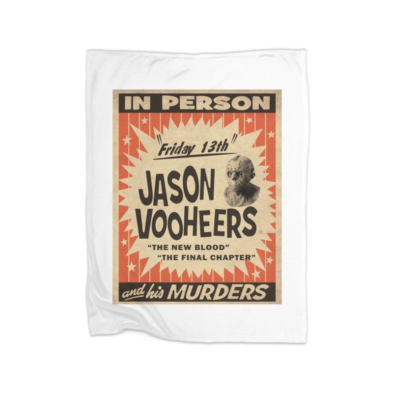 Jason in Person Home Fleece Blanket Blanket by oldtee's Artist Shop