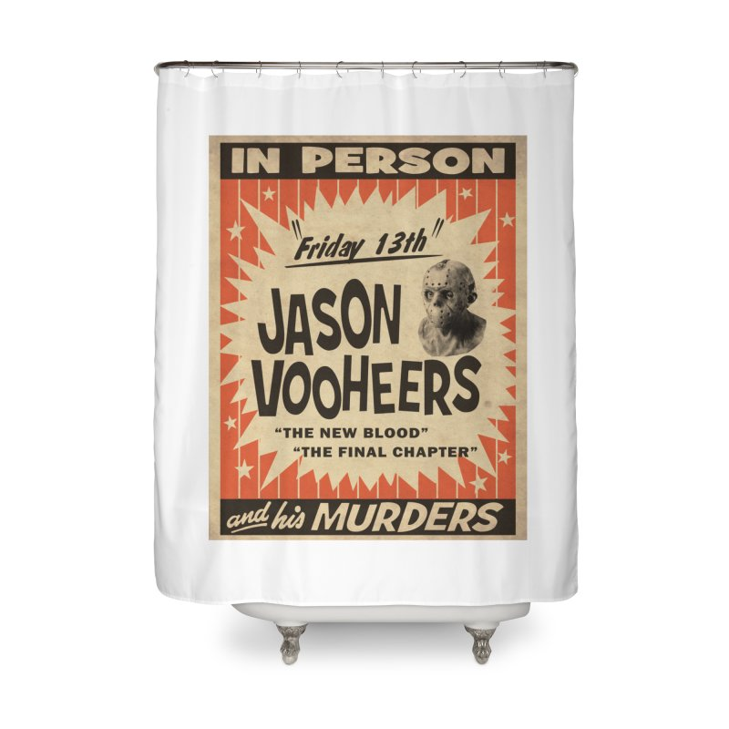 Jason in Person Home Shower Curtain by oldtee's Artist Shop