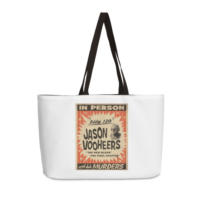 Jason in Person Accessories Weekender Bag Bag by oldtee's Artist Shop