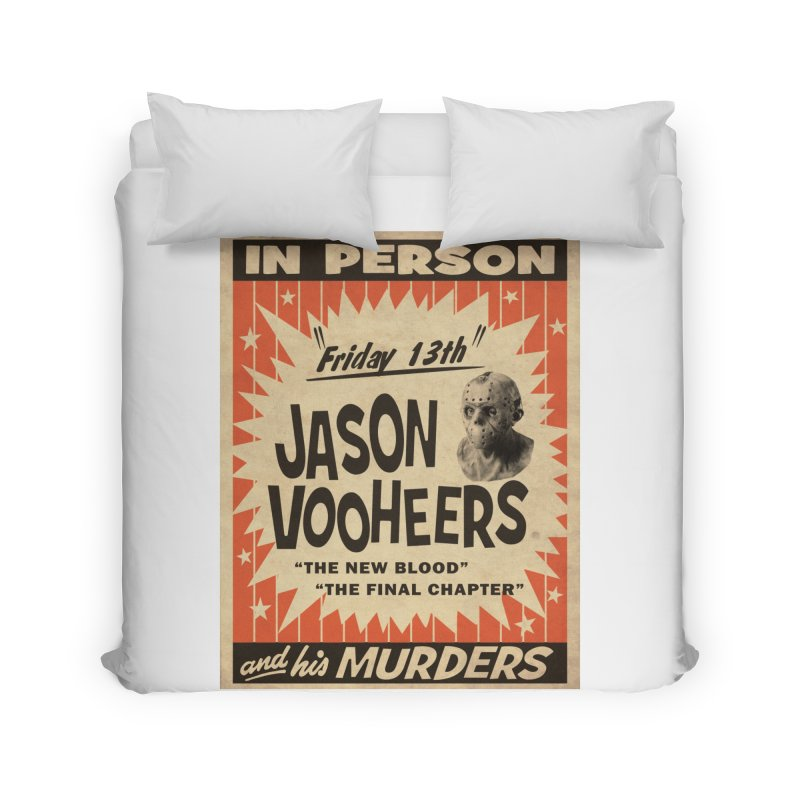 Jason in Person Home Duvet by oldtee's Artist Shop