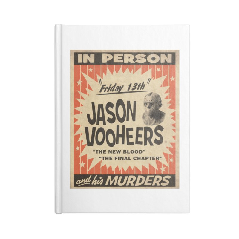 Jason in Person Accessories Lined Journal Notebook by oldtee's Artist Shop