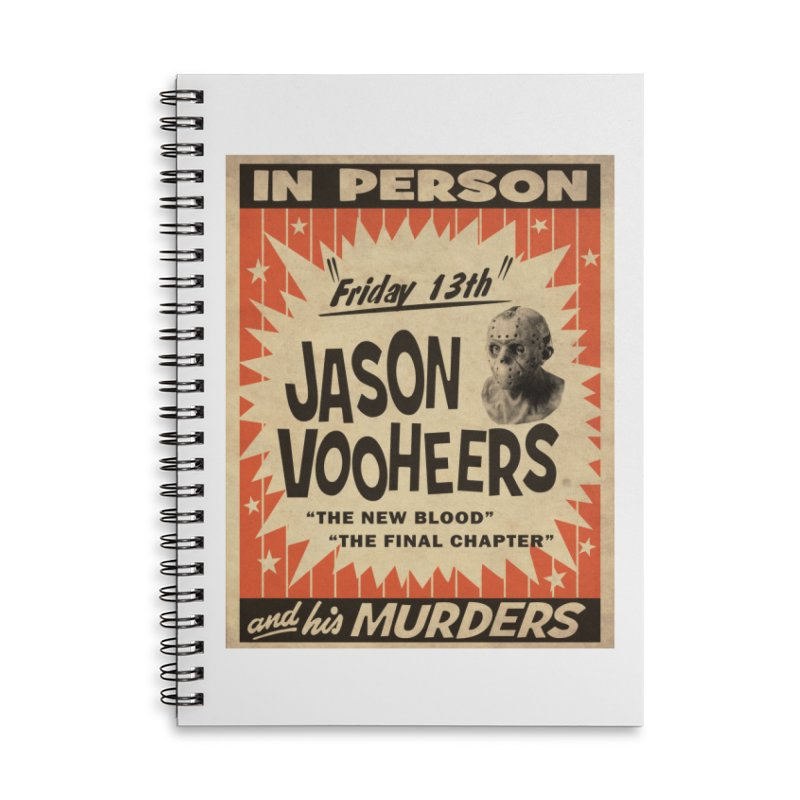 Jason in Person Accessories Lined Spiral Notebook by oldtee's Artist Shop