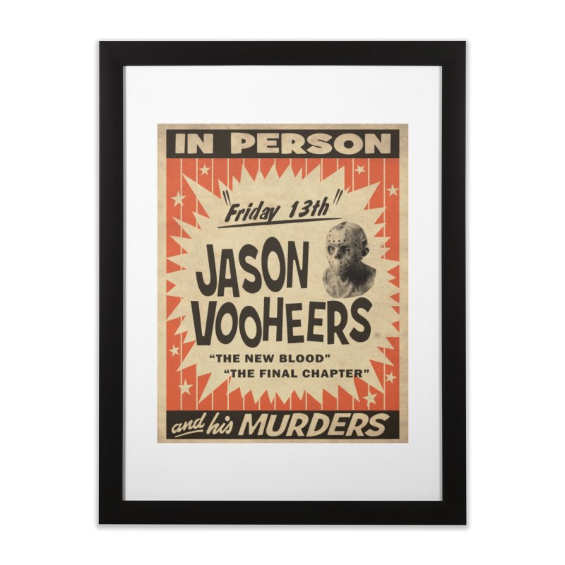 Jason in Person Home Framed Fine Art Print by oldtee's Artist Shop