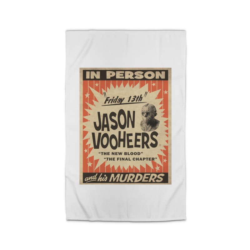 Jason in Person Home Rug by oldtee's Artist Shop
