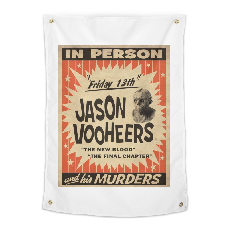 Jason in Person Home Tapestry by oldtee's Artist Shop