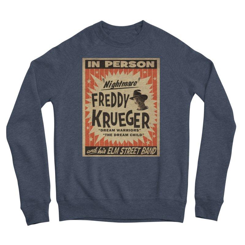 Freddy in person Women's Sponge Fleece Sweatshirt by oldtee's Artist Shop