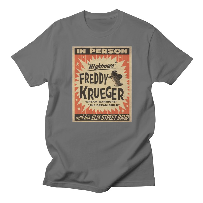Freddy in person Men's T-Shirt by oldtee's Artist Shop