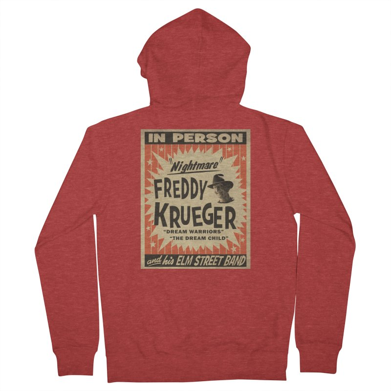 Freddy in person Men's French Terry Zip-Up Hoody by oldtee's Artist Shop