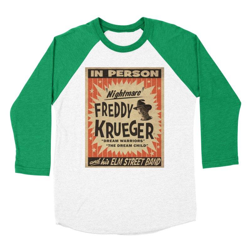 Freddy in person Women's Baseball Triblend Longsleeve T-Shirt by oldtee's Artist Shop