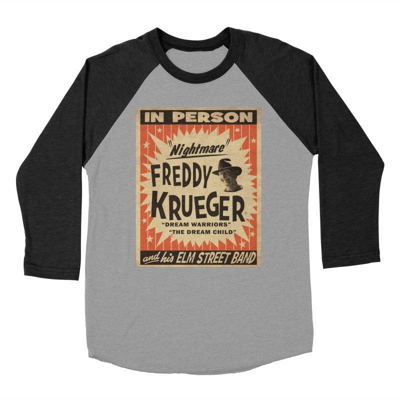 Freddy in person Men's Baseball Triblend Longsleeve T-Shirt by oldtee's Artist Shop