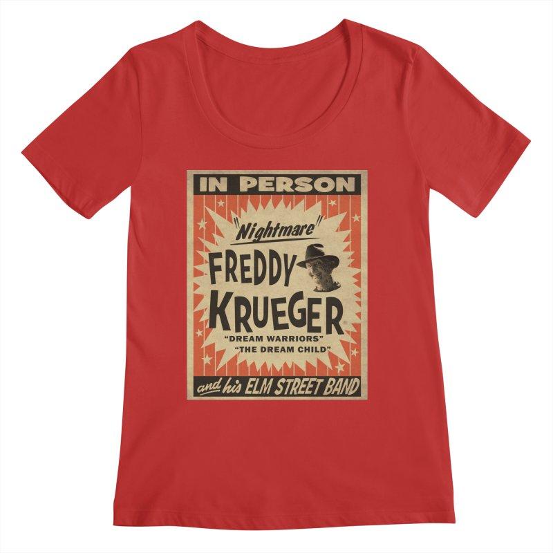 Freddy in person Women's Regular Scoop Neck by oldtee's Artist Shop