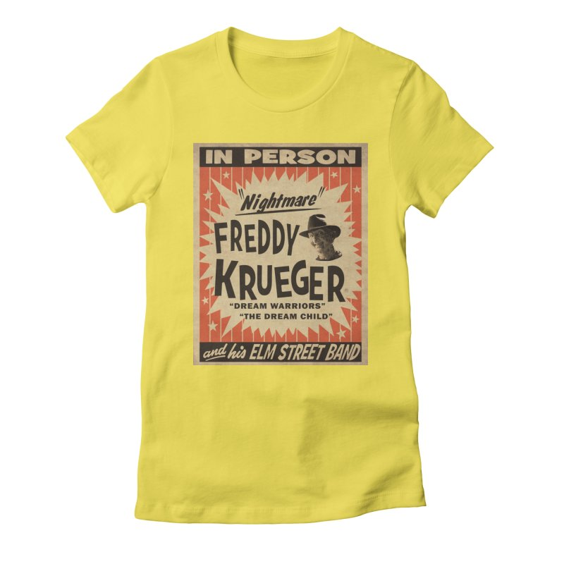 Freddy in person Women's Fitted T-Shirt by oldtee's Artist Shop