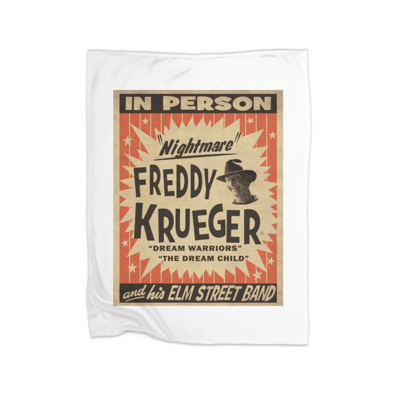 Freddy in person Home Fleece Blanket Blanket by oldtee's Artist Shop