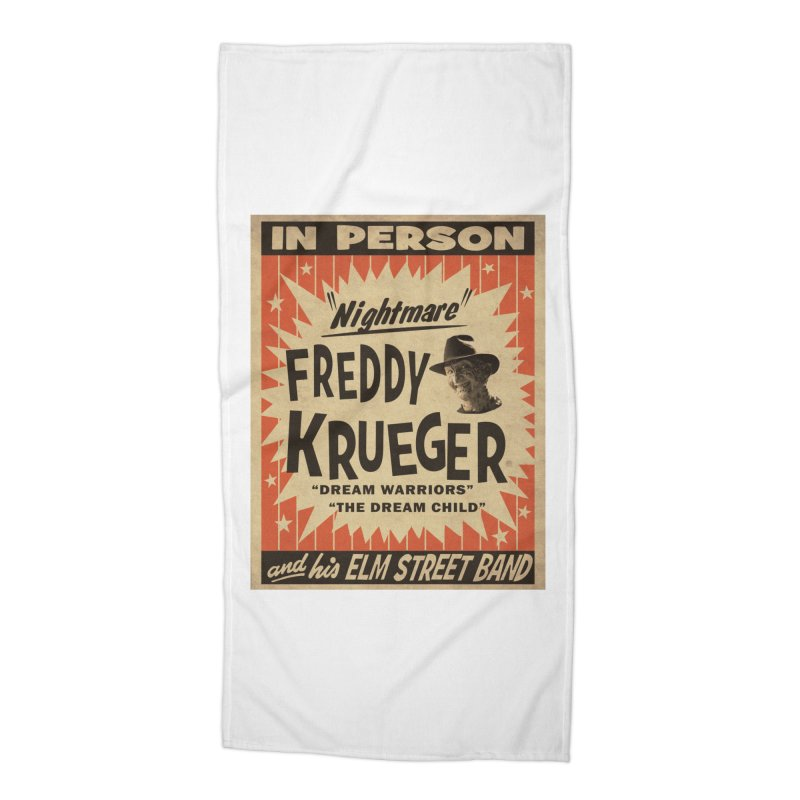 Freddy in person Accessories Beach Towel by oldtee's Artist Shop