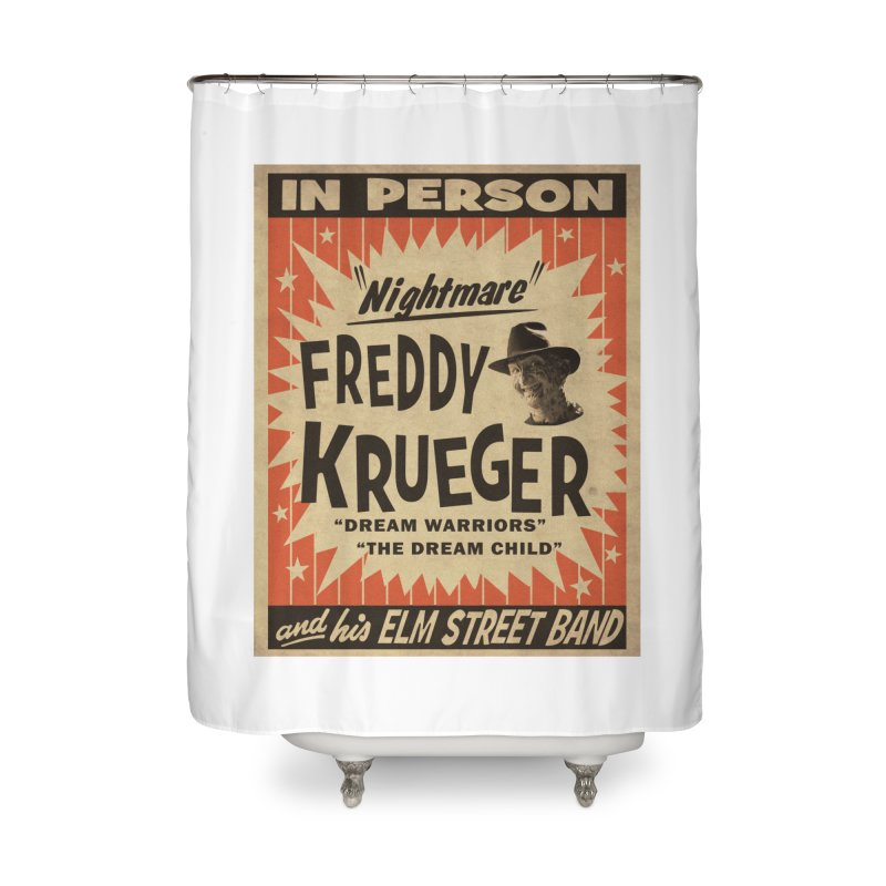 Freddy in person Home Shower Curtain by oldtee's Artist Shop