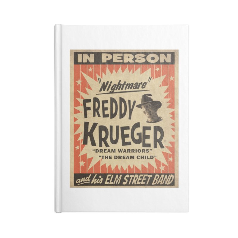 Freddy in person Accessories Lined Journal Notebook by oldtee's Artist Shop