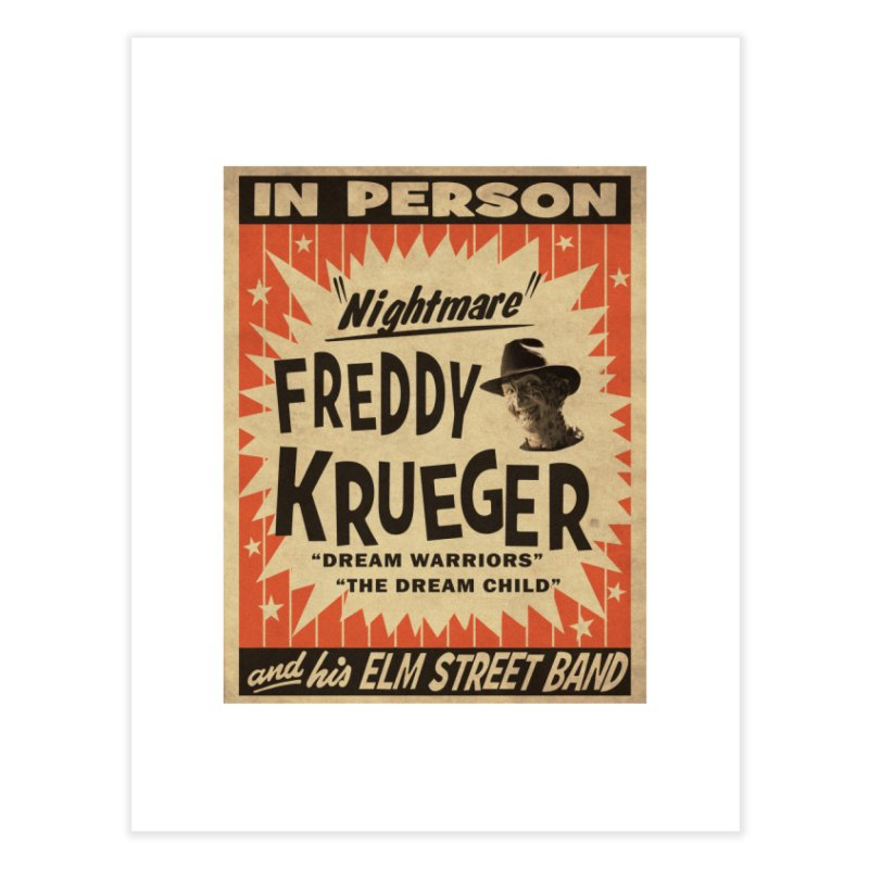 Freddy in person Home Fine Art Print by oldtee's Artist Shop