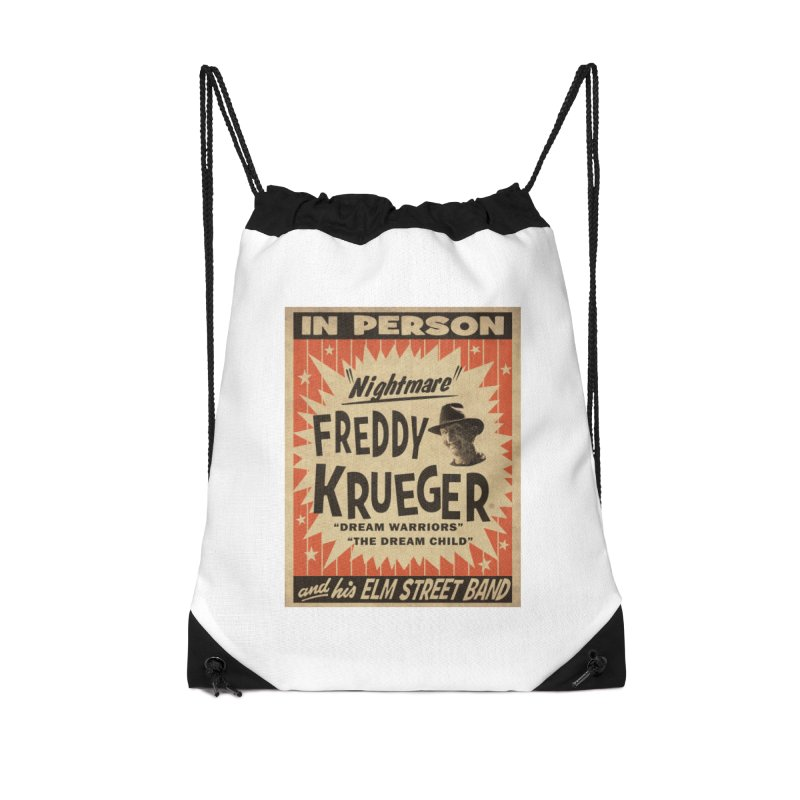 Freddy in person Accessories Drawstring Bag Bag by oldtee's Artist Shop
