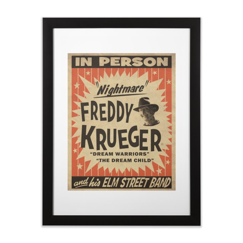 Freddy in person Home Framed Fine Art Print by oldtee's Artist Shop