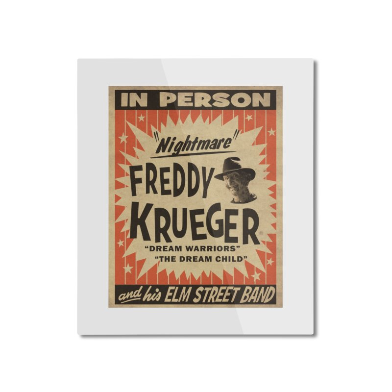 Freddy in person Home Mounted Aluminum Print by oldtee's Artist Shop