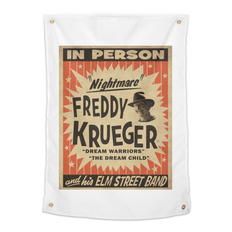 Freddy in person Home Tapestry by oldtee's Artist Shop