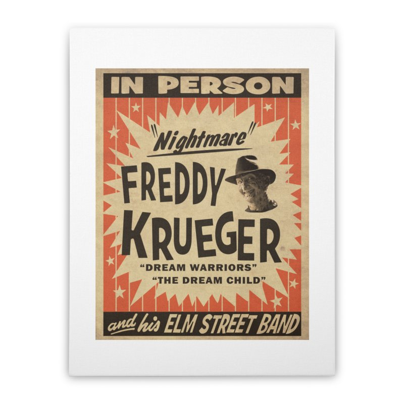 Freddy in person Home Stretched Canvas by oldtee's Artist Shop