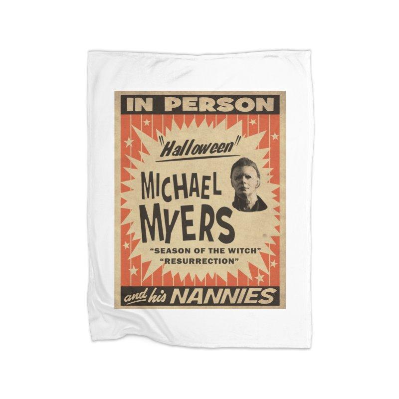 Michael in person Home Fleece Blanket Blanket by oldtee's Artist Shop