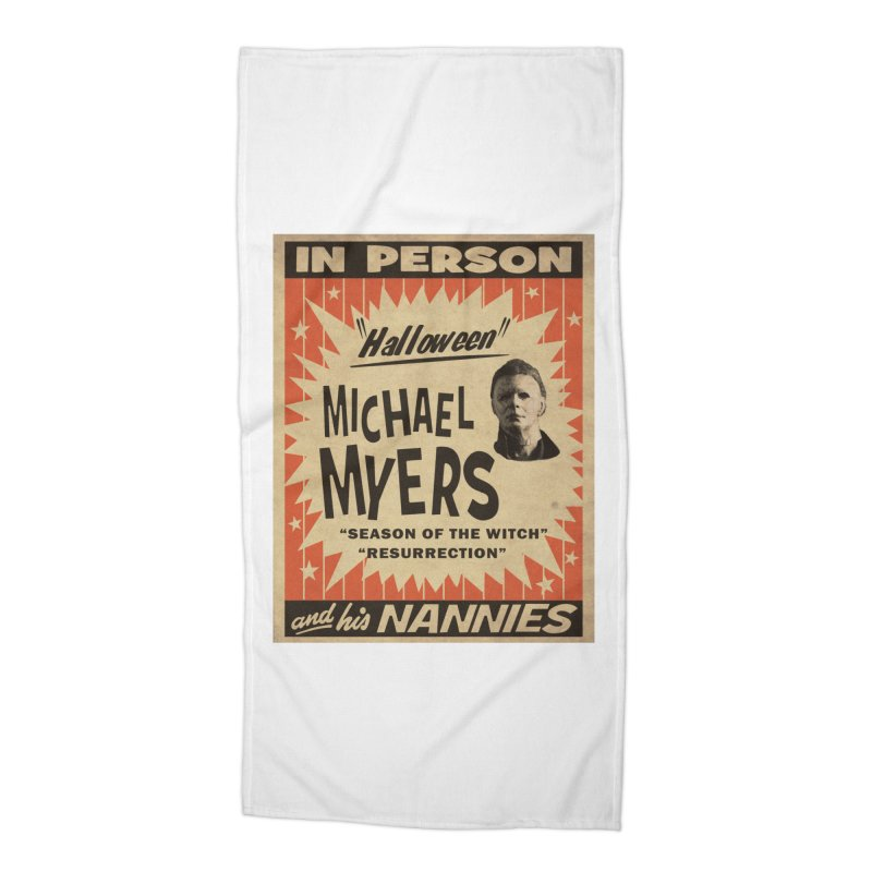 Michael in person Accessories Beach Towel by oldtee's Artist Shop