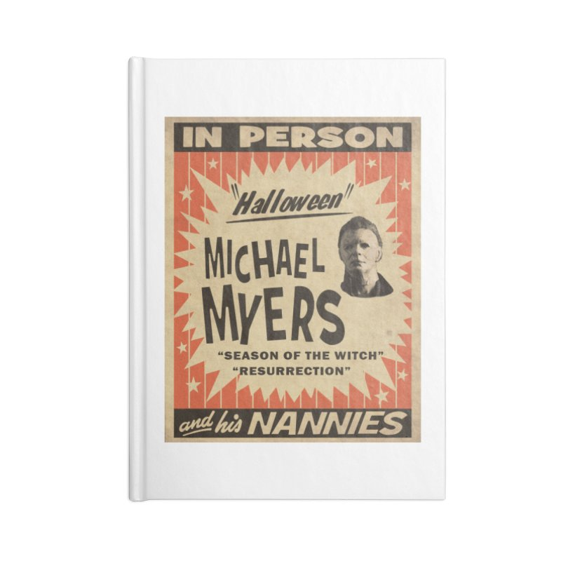 Michael in person Accessories Lined Journal Notebook by oldtee's Artist Shop