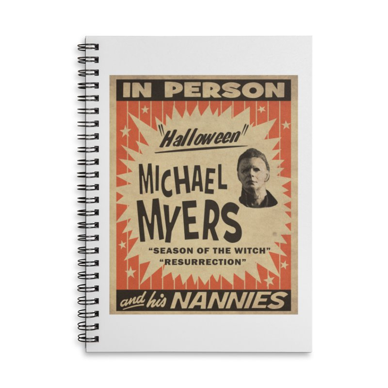 Michael in person Accessories Lined Spiral Notebook by oldtee's Artist Shop